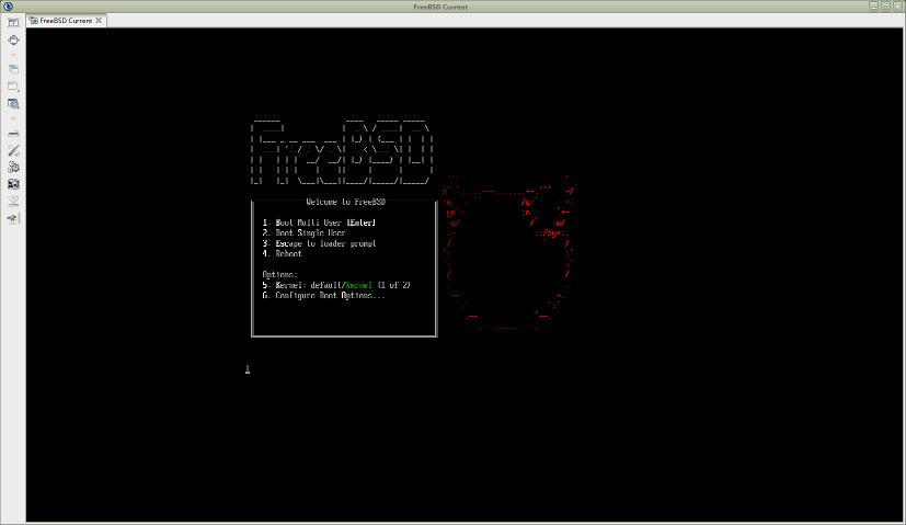 FreeBSDの起動画面
