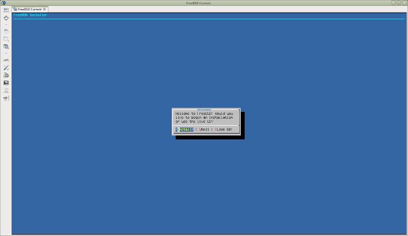 FreeBSDのインストーラ画面